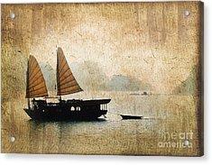Halong Bay Vintage Acrylic Print