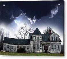 Haloween House Acrylic Print by Skip Willits
