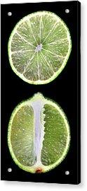 Halved Limes Acrylic Print