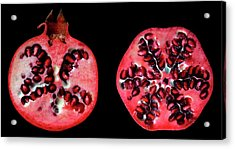 Halved Pomegranates Acrylic Print