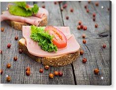 Ham Sandwich Acrylic Print by Aged Pixel