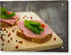 Ham Sandwiches Acrylic Print by Aged Pixel