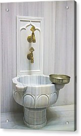 Hamam Marble Sink In Istanbul Acrylic Print