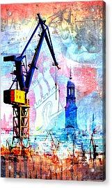 Acrylic Print featuring the digital art Hamburg - Meine Perle by Marc Huebner