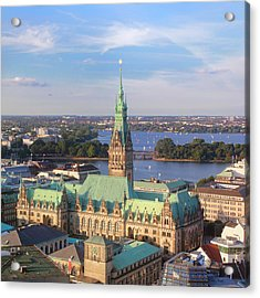 Hamburg City Hall Acrylic Print by Marc Huebner
