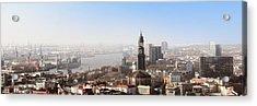 Hamburg Elbe Panorama Acrylic Print by Marc Huebner