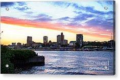 Hamburg Riverside Acrylic Print