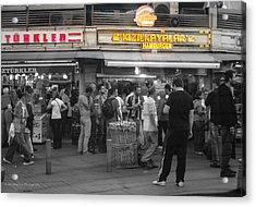 Hamburger Across The World Acrylic Print by Ross Henton
