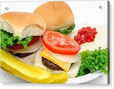 Hamburger And Pickles Acrylic Print by Don Bendickson