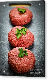Hamburger Patties Acrylic Print by Elena Elisseeva