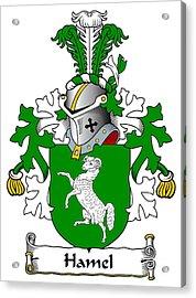 Hamel Coat Of Arms Dutch Acrylic Print by Heraldry