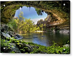 Hamilton Pool Acrylic Print by Lisa  Spencer