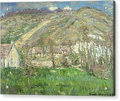 Hamlet In The Cliffs Near Giverny Acrylic Print by Claude Monet