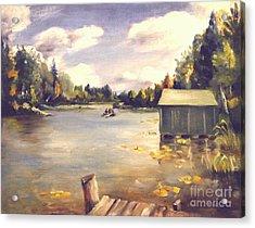 Hamlin Lake Dock 1945 Acrylic Print