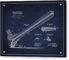 Hammer Patent Drawing From 1901 Acrylic Print by Aged Pixel