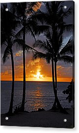 Hammock Sunset Acrylic Print by Lynn Bauer