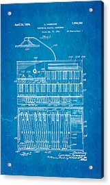 Hammond Organ Patent Art 1934 Blueprint Acrylic Print by Ian Monk