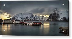 Hamnoy Village On Lofoten, Nordland Acrylic Print by Panoramic Images