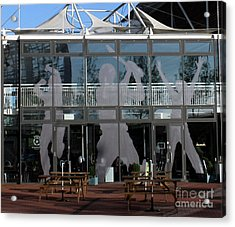 Hampshire County Cricket Glass Pavilion Acrylic Print by Terri Waters