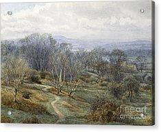Hampstead Heath Looking Towards Harrow On The Hill Acrylic Print by Edith Martineau