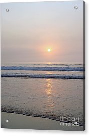 Hampton Beach Waves And Sunrise Acrylic Print by Eunice Miller