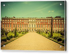 Hampton Court Palace Gardens As Seen From The Knot Garden Acrylic Print