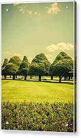 Hampton Court Palace Gardens Summer Colours Acrylic Print