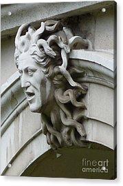 Hampton Court Palace Medusa Acrylic Print by Deborah Smolinske