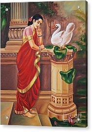 Hamsa Damayanthi Acrylic Print