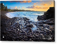 Hana Bay Sunrise Acrylic Print by Inge Johnsson