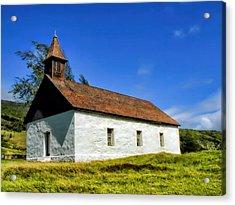 Acrylic Print featuring the photograph Hana Church 1 by Dawn Eshelman