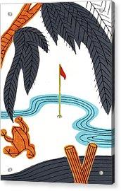 Hanafuda Golf For Cards Acrylic Print