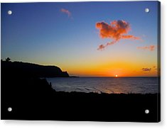 Hanalei Bay Sunset Acrylic Print by John  Greaves