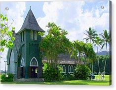Hanalei Church Acrylic Print by Mary Deal