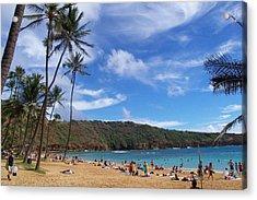 Hanauma Bay Oahu Hawaii Acrylic Print by Kenneth Cole