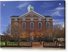 Acrylic Print featuring the photograph Hancock County Courthouse by Wendell Thompson