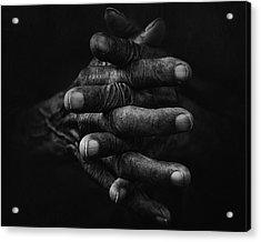 Hand And Memories Acrylic Print