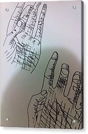 Hand Drawing Acrylic Print by Khoa Luu