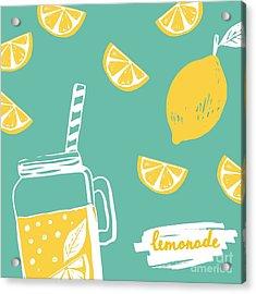 Hand Drawn Lemonade Acrylic Print