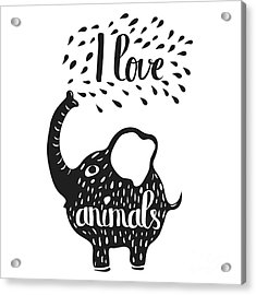 Hand Drawn Lettering Typography Poster Acrylic Print