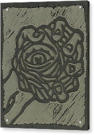 Hand Eye Coordination Linoleum Block Carving Acrylic Print
