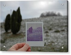 Hand Holding Polaroid - Concept Image For Memory Or Time Or Past Acrylic Print by Matthias Hauser
