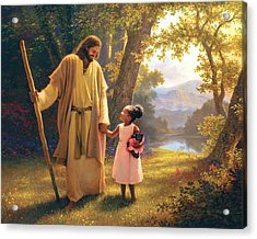 Hand In Hand Acrylic Print by Greg Olsen