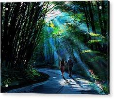 Hand In Hand Acrylic Print by Kiran Kumar