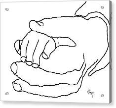 Hand In Hand Acrylic Print