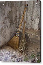 Hand Made Brooms At Shwe Yan Pyay Acrylic Print