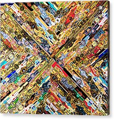 Hand Made Cigar Label Collage Acrylic Print