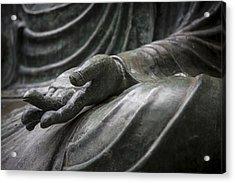 Hand Of Buddha - Japanese Tea Garden Acrylic Print by Adam Romanowicz