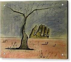 Hand On The Horizon Acrylic Print