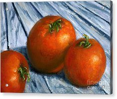 Hand Painted Art Still  Life Tomatoes Acrylic Print